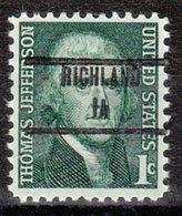 USA Precancel Vorausentwertung Preo, Locals Iowa, Richland 853 - Vereinigte Staaten