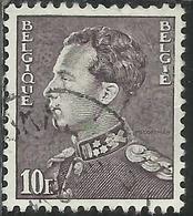 BELGIQUE BELGIE BELGIO BELGIUM 1936 1951 KING ROI RE LEOPOLD III 10f USATO USED OBLITERE - België