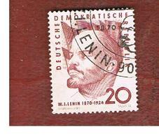GERMANIA EST (EAST GERMANY) (DDR) - SG E493 - 1960 V. LENIN  -  USED - [6] Repubblica Democratica