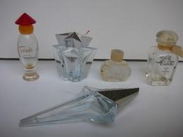 MUGLER, HERMES ,ROCHAS   LOT 5 MINIS VIDES  LIRE ET VOIR - Modern Miniatures (from 1961)