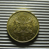 Kenya 5 Cents 1971 - Kenia