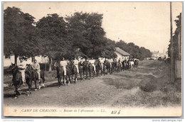 51 CHALONS- Le Camp, Retour De L'abreuvoir - Camp De Châlons - Mourmelon