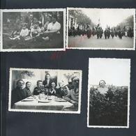 LOT DE 4 PHOTOS DE LA FAMILLE VAN ROMPU RAYMOND A PARIS + UNE MILITARIA MILITAIRES DEFILANT : - Persone Identificate