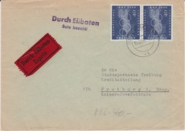 Bund Mi 335 (2) MeF Olympia Rom EilBf Augsburg 1960 - Briefe U. Dokumente