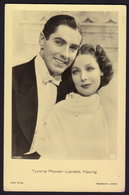 LORETTA YOUNG - TYRONE POWER - MOVIE FILM - OLD POSTCARD  (see Sales Conditions) - Acteurs