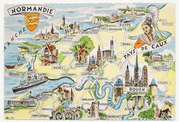 CPSM Dentelée Glacée 10.5 X 15 Homualk Les Provinces Françaises... Normandie - Pays De Caux Sans Elbeuf - Homualk