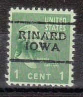 USA Precancel Vorausentwertung Preo, Locals Iowa, Rinard 701 - Vereinigte Staaten