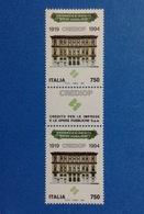 1994 ITALIA FRANCOBOLLO NUOVO STAMP NEW MNH** CREDIOP CON APPENDICE AL CENTRO - 6. 1946-.. Repubblica