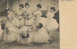 Superb Set Of 5 Cards Young Dancers In Ballet Skirts Tutu Undivided Back Make Up Maquillage  Coryphées - Danse