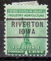 USA Precancel Vorausentwertung Preo, Locals Iowa, Riverton 729 - Vereinigte Staaten