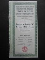 NORAFOR Nord Africaine De Forages Et D'Exploitations Petrolieres CASABLANCA MAROC - Pétrole