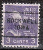 USA Precancel Vorausentwertung Preo, Locals Iowa, Rockwell 703 - Vereinigte Staaten