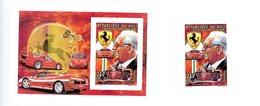 Mali 1994-Enzo Ferrari-Timbre De La Série+bloc-NON Dentelé***mnh - Automobilismo