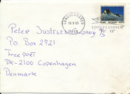 Norway Cover Sent To Denmark Longyearbyen 26-9-1985 Single Franked - Norway