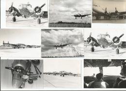 AVIATION 9 PHOTOS TIREES D'1 ALBUM ANNEES 50 - Aviation