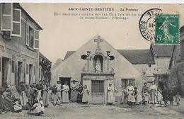 02, Aisne, ARCY-SAINTE-RESTITUE, La Fontaine,Animations, Scan Recto-Verso - Altri Comuni