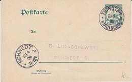 Deutsche Kolonien Kiautschou China Ganzsache P 5 Tsingtau N Schwedt Oder 1906 - Colonie: Kiautchou