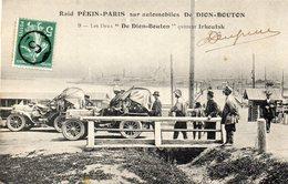CPA -  RAID  PEKIN - PARIS Sur Automobiles  DE  DION - BOUTON - Les Deux De Dion Bouton Quittent Irkoutsk - Turismo