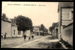 51 -  MAREUIL SUR AY (Marne) - Route D'Ay - Environs D'Epernay - Mareuil-sur-Ay