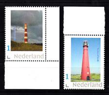 Vuurtoren, Lighthouse Nederland Persoonlijke Zegel  Ameland+  Schiermonnikoog - Vuurtorens