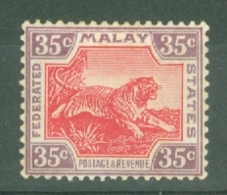 Federated Malay States: 1922/34   Tiger    SG72    35c   Scarlet /pale Yellow   MH - Federated Malay States