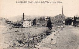 Saint Ambroix - Entrée De La Ville Et Route D ' Alais (Alès) - Saint-Ambroix