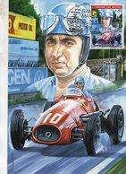 Alberto Ascari - Ferrari 500 - Artiste:Giovanni Cremonini - San Marino Maxi Carte   - Premier Jour/FDC - Automobilismo