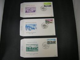 "BELG.1985  2186 2187 & 2188 FDC's ( Antwerpen )  :"" Bevrijding / Libération "" - 1981-90"
