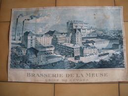 Carton Publicitaire BRASSERIE De La MEUSE -  Usine De SEVRES   ( Carton Abimé) - Werbung