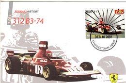 Nevis - Niki Lauda -  Ferrari 312 B3-74   - Enveloppe Premier Jour/FDC - Automobile