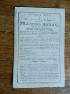 CHENAY-BILSTAIN SOUVENIR DE DECE DE FRANCOIS HARDY EPOUX JEANNE FRANCOISE VOSSE 1831-1884: - Images Religieuses