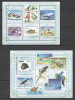 T057 2010 GUINEA-BISSAU FAUNA WWF BIRDS ANIMALS STAMPS ON STAMPS KB+BL MNH - Timbres