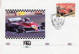 Bosnia Hercegovina -  Ferrari 312 T3 F1 (1978)   - Enveloppe Premier Jour/FDC - Automobile
