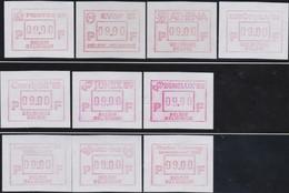 Belgie  .  OBP .    38 Aut.  Zegels  (7 Scans)    .   **  .    Postfris ZONDER  Charnier    .  / .  Neuf SANS  Charniere - Vignettes D'affranchissement