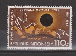 Indonesia Indonesie 1153 Used ; Kaart, Map, Carta, Carte Indonesia, Zonsverduistering, Solar Eclips 1983 - Astrologie
