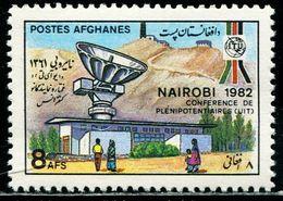 AFH440 Afghanistan 1982 Telecommunication Union Conference Satellite Receiving Station 1V MNH - Afghanistan