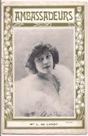 """Programme Théâtre 1910 """" Ambassadeurs """" Mlle L . Landy  16 Pages - Programs"""
