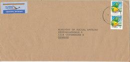 Uganda Air Mail Cover Sent To Denmark 14-10-1992 BIRD Stamps - Uganda (1962-...)