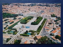 MONTPELLIER : VUE AERIENNE DES JARDINS DU PEYROU, LE CENTRE VILLE - Montpellier