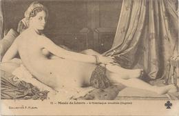 11. MUSEE DU LOUVRE - L'ODALISQUE COUCHEE ( INGRES ) Carte Non Ecrite - Musées