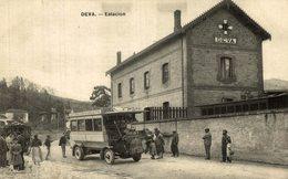 DEVA. ESTACION DE FERROCARRIL. AUTOMOVILES DE LEQUEITIO. FIAT ¡¡RARA!! - Guipúzcoa (San Sebastián)