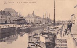 Courtrai / Kortrijk - La Lys Et Le Marché Aux Poissons - Péniches - Nels - 1919 - Kortrijk