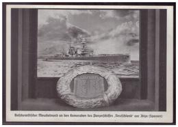 Dt.- Reich (008144) Propagandakarte Bolschewistischer Meuchelmord An Den Kameraden Des Panzerschiffes Deutschland,blanco - Briefe U. Dokumente