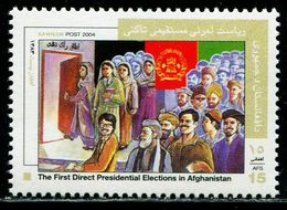 AFH450 Afghanistan 2004 Parliamentary Election Flag, Etc. 1V MNH - Afghanistan