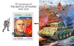 Sierra Leone 2019 Battle Of Kursk, Georgy Zhukov ,World War II S201903 - Sierra Leone (1961-...)