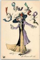 53028166 - Sign. Robertz 1910 Frau Hutmode - New Year
