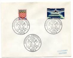 PARIS 1965 = CACHET TEMPORAIRE Illustré = EXPOSITION COMPOSTELLANE / ANNEE JUBILAIRE / COQUILLE SAINT JACQUES = - Marcophilie (Lettres)