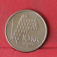 NORWAY 10 KRONER 1996 -    KM# 457 - (Nº29376) - Noruega