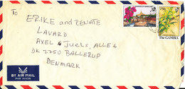 Gambia Air Mail Cover Sent To Denmark Topic Stamps FLOWERS - Gambia (1965-...)