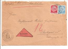 Nachnahme Ludwigsburg. Kirchenregisteramt - Covers & Documents
